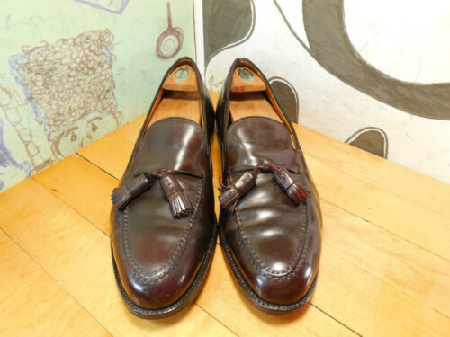 Alden Brown Shell Cordovan Tassel Loafers Men's 10