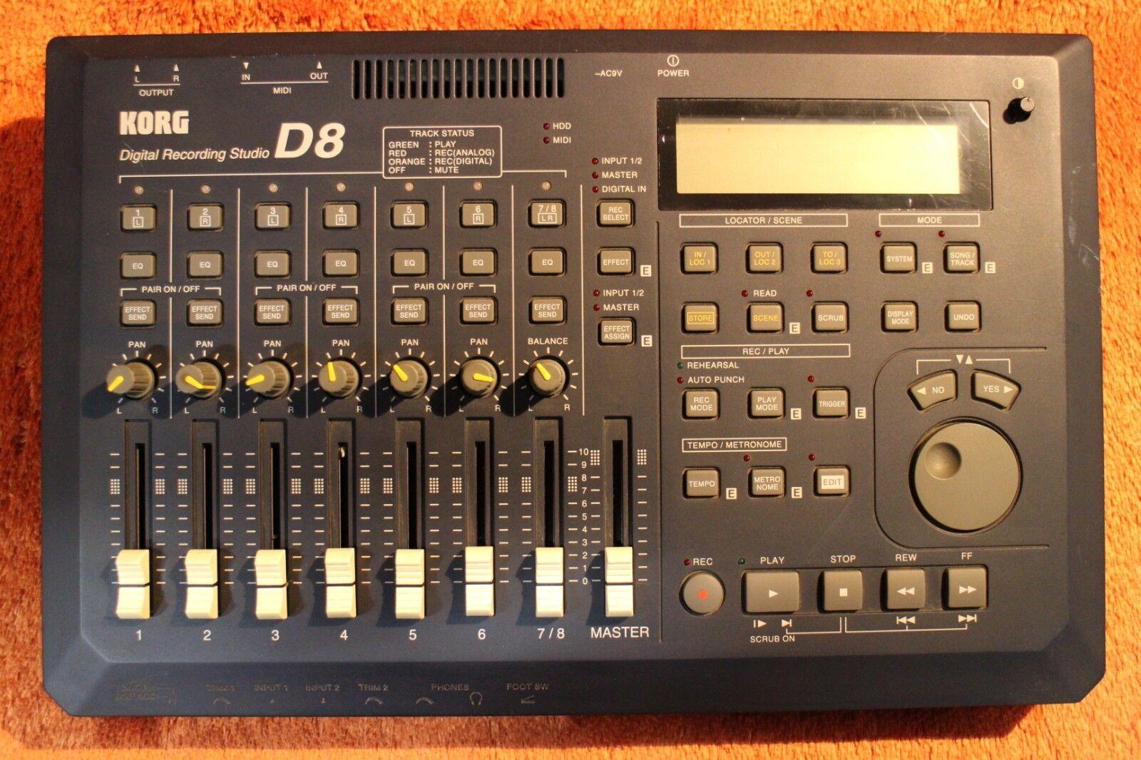 USED KORG D-8 D8 Digital Recording studio d8 Recorder MTR U392 190115