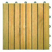 VIFAH Acacia Hardwood 8 Horizontal Design - Interlocking Wood Deck Tile V355 NEW