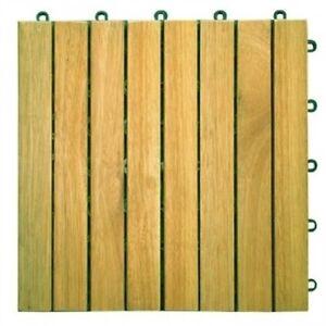 Image Is Loading Vifah Acacia Hardwood 8 Horizontal Design Interlocking Wood