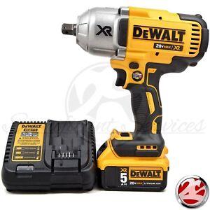 DEWALT-DCF899-20V-XR-5-0-Ah-Brushless-700lbs-High-Torque-1-2-034-Detent-Anvil-Kit