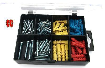 Anchor /& tapping screws wall raw plugs fixings rawlplugs in box set 70pc screw