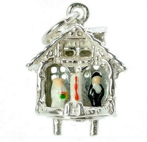 STERLING-SILVER-MOVABLE-ENAMELLED-WEDDING-WEATHER-HOUSE-CHARM