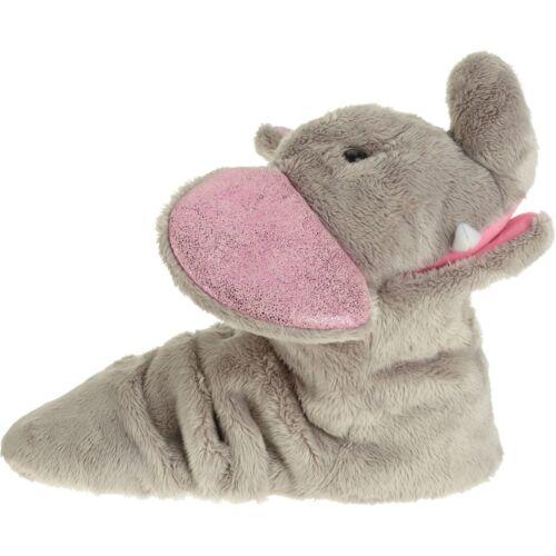 GIRL/'S Ankle Biter Slipper Elephant Small 11//12 GRAY w// PINK SPARKLE EARS
