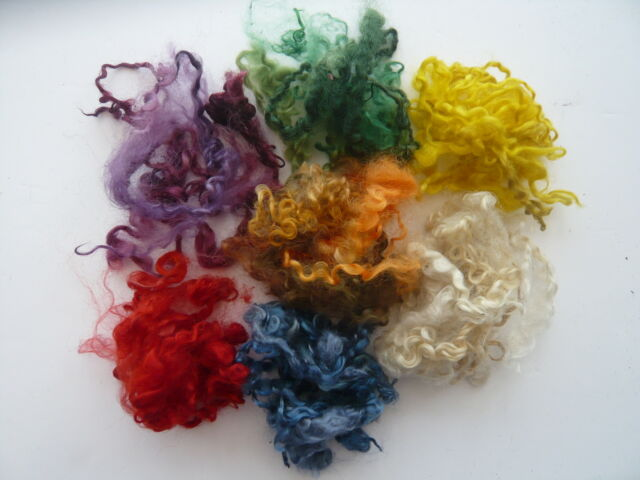 Heidifeathers® Dyed Curly Wool Mix  - 7 Colors - Felting and Spinning