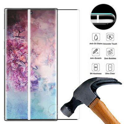 For Samsung Galaxy Note 10 Plus 6D Curved Tempered Glass Screen Protector Film