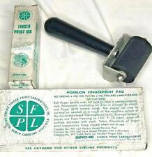 Sirchie Finger Print Ink Roller Amp Pad Good Cond Vintage Original Boxes