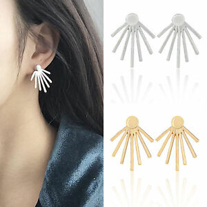 1Pair-Women-Simple-Gold-Silver-Alloy-Earrings-Ear-Stud-Fashion-Jewelry-Charms