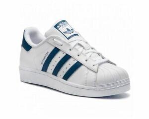 Details about Adidas Originals Superstar Junior F34163 Leather Trainers White