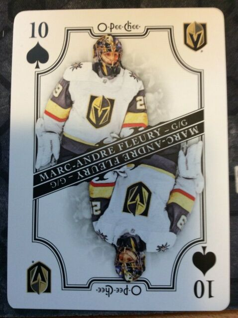 O-Pee-Chee 2019-2020 MARC-ANDRE FLEURY PLAYING CARD 10 OF SPADES HOCKEY CARD