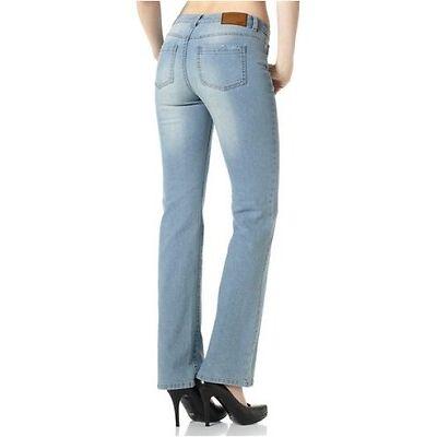 Arizona Jeans NEU Gr.76 (38) L34 Damen Bootcut Hose Blau Stretch Denim Bleached