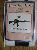 Come And Take It M4 Machine Gun Ak57 Nra 50x60 Fleece Blanket Throw Blanket