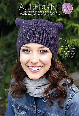 Tejer patrón Señoras Sombrero Con Textura Costilla rápida sencilla dk Woolly Wormhead SKM AUA