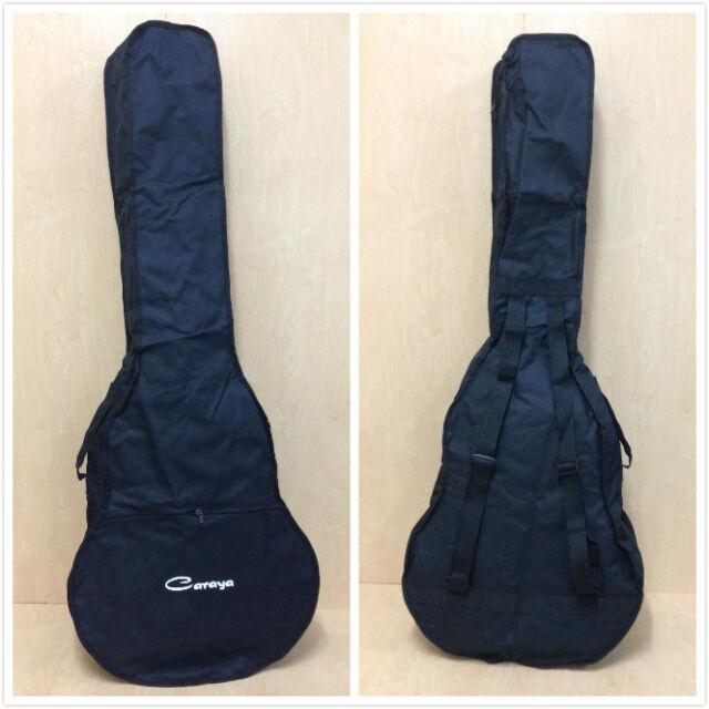 Caraya Waterproof Nylon Soft Case for 4/4 Acoustic Bass Guitars,BK +3 Free Picks