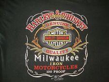 Vintage HARLEY DAVIDSON MOTORCYCLE 1987 3D Emblem Biker MC  Paper Thin T Shirt L