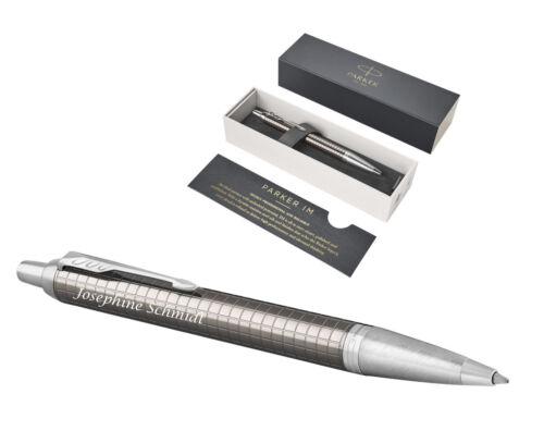 PARKER Kugelschreiber IM PREMIUM  DARK ESPRESSO Laser Gravur graviert