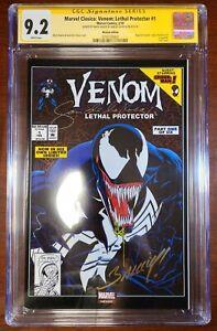 Marvel-Clasico-Venom-Lethal-Protector-1-CGC-9-2-2x-signed-Bagley-amp-De-La-Rosa