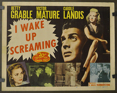 I WAKE UP SCREAMING R1948 ORIGINAL 22X28 MOVIE POSTER BETTY GRABLE VICTOR  MATURE | eBay
