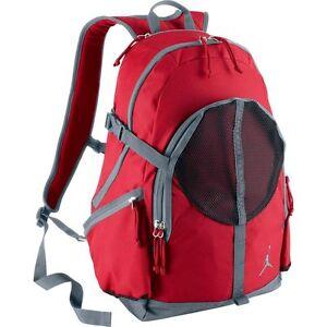c031bbf89125c2 Image is loading Nike-Air-Jordan-Jumpman-Backpack-Red-Grey-Black-