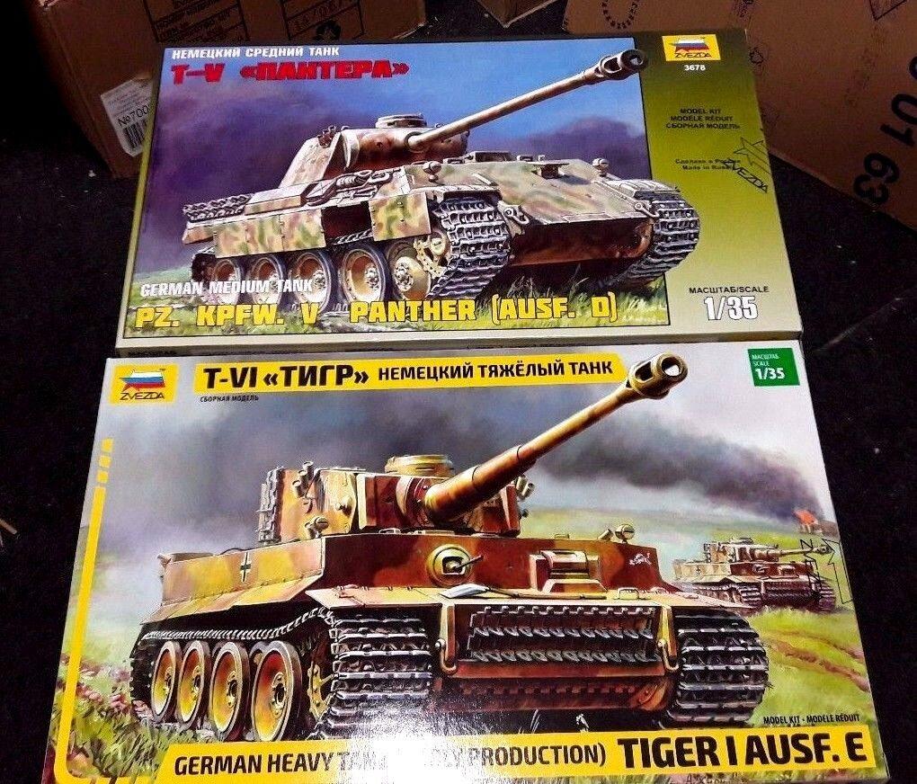 Zvezda German LEGENDS deal 3646 & 3678 (PANTHER AND TIGER) 1 35