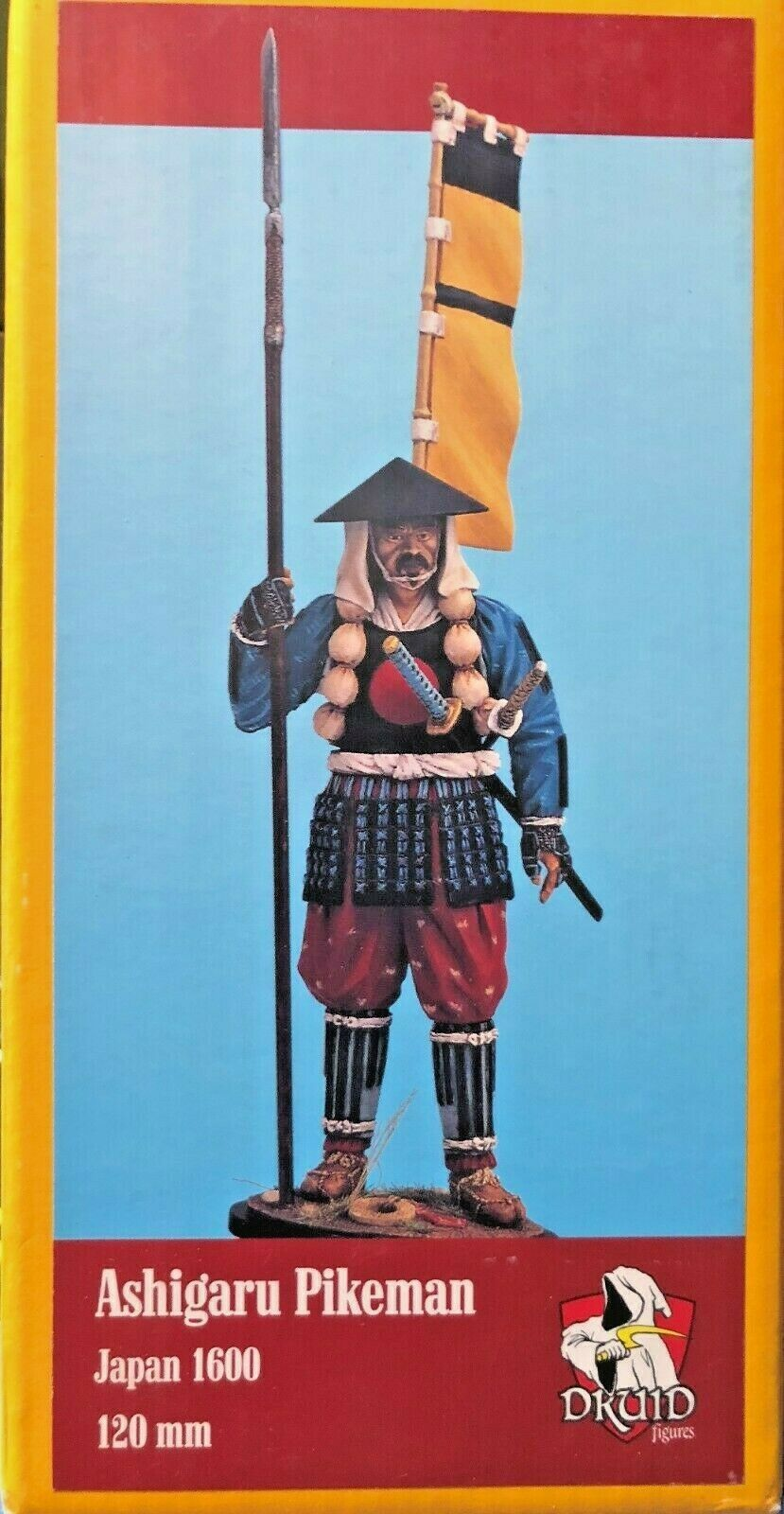 1 16 120MM RESIN FIGURE DRUID FIGURES ASHIGARU PIKEMAN. NEW.