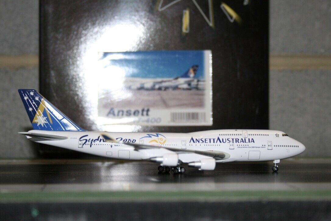 Estrella Doble 1 400 Ansett Boeing 747-400 VH-Ana  Sydney 2000  (04003) modelo de avión