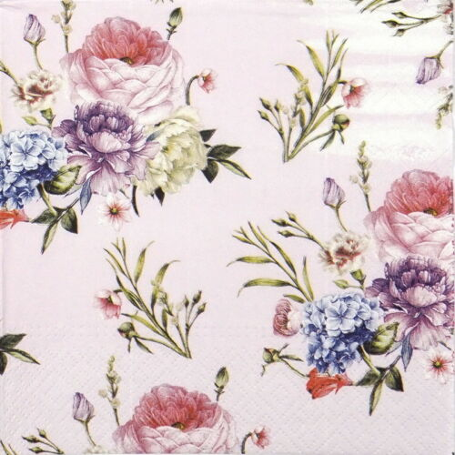 4x Paper Napkins for Decoupage Decopatch Craft Tapestry roses