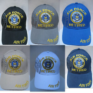 U-S-AIR-FORCE-RETIRED-VETERAN-Cap-Hat-Military-w-Shadow-FREE-Shipping