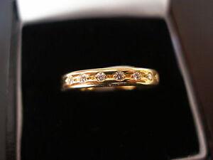 18CT GOLD DIAMOND WEDDING ETERNITY RING MADE BY BN IN UK BNIB