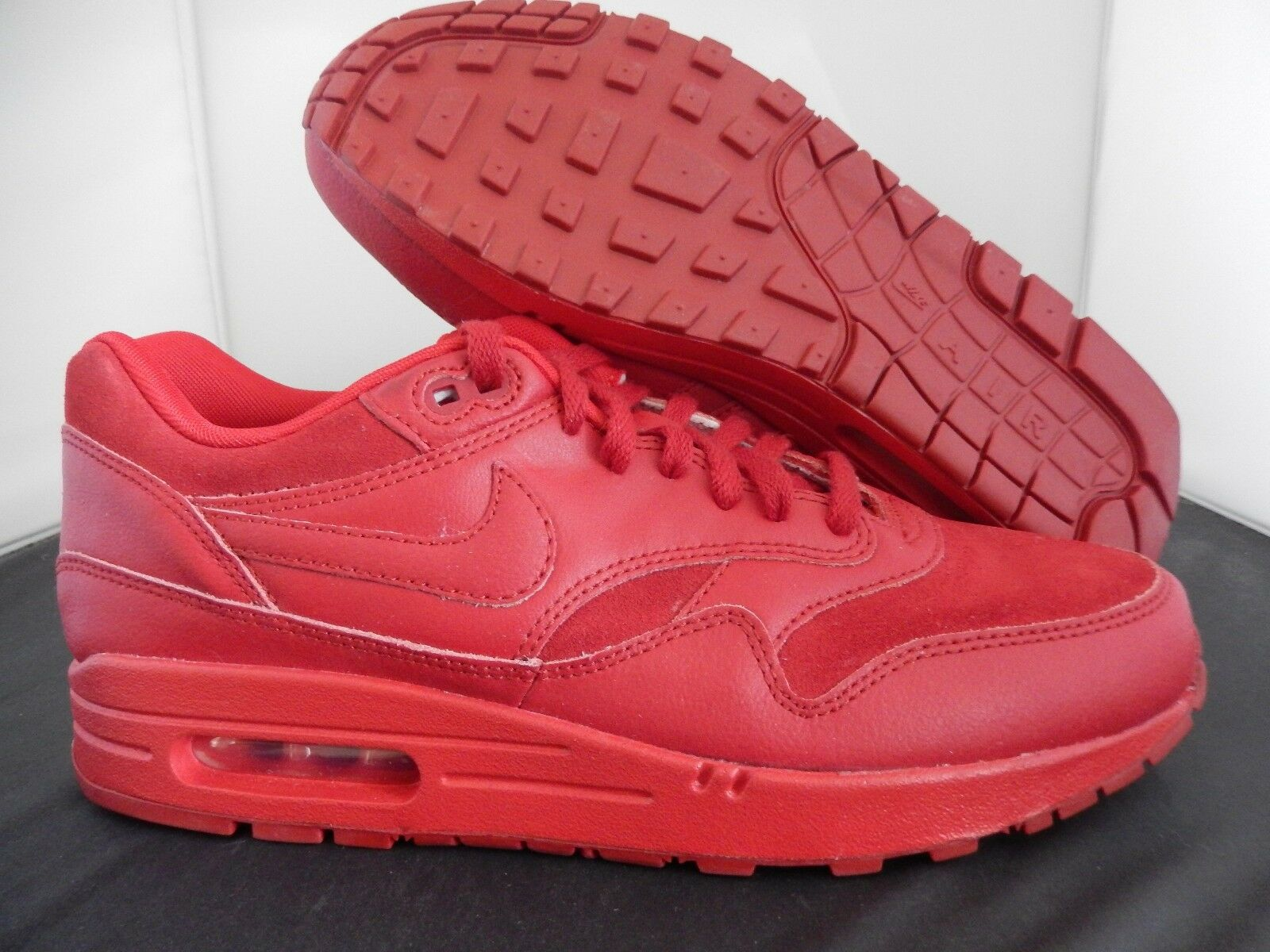 NIKE AIR MAX 1 iD ALL RED SZ 9.5 RED OCTOBER RARE!!