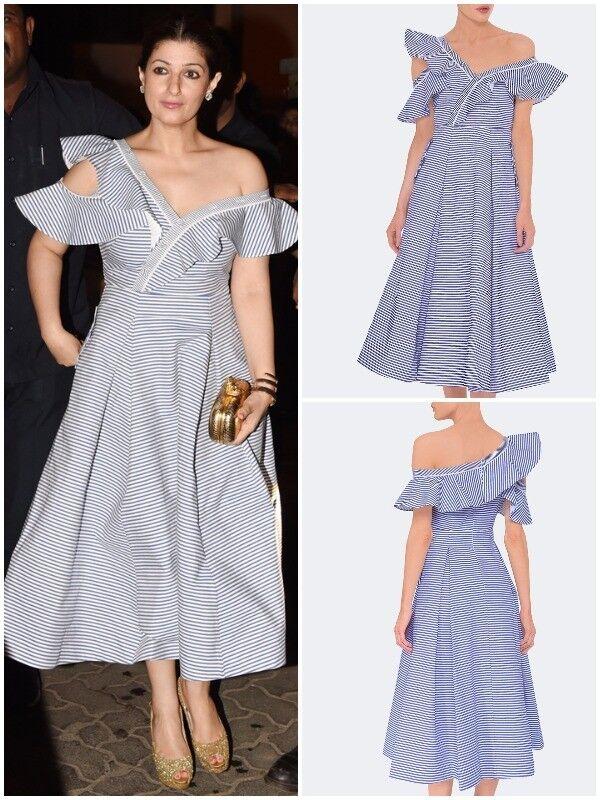 SELF-PORTRAIT Striped Shirting Frill Dress Größe UK 14 | Angemessener Preis  | Online  | Hohe Qualität und günstig  | Zuverlässige Leistung