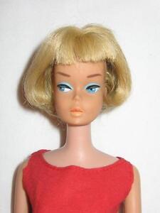 Vintage-Barbie-American-Girl-Pale-Blonde-All-Original-Wearing-Best-Bow-Beautiful