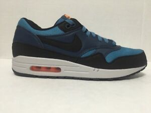 Details about Nike Air Max 1 Essential Blue Black Running Shoes Mens 537383 402