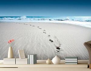 Das Bild Wird Geladen Fototapete Papier WALK ON THE BEACH 280x200cm Wand