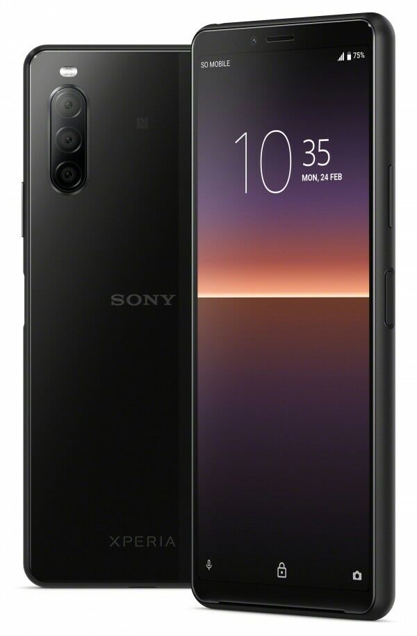 Full-grain leather Sony Xperia 10 pouch Brown leather with two pockets voor cards Available for all Xperia models