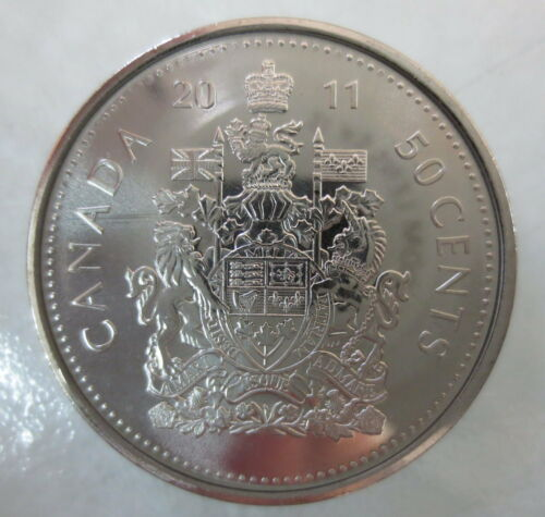 2011 CANADA 50¢ HALF DOLLAR COIN UNCIRCULATED FROM MINT ROLL