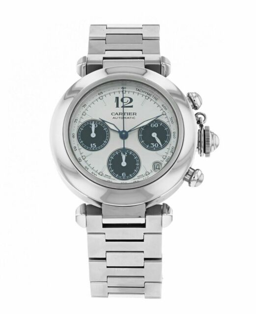 Cartier Pasha Chronograph Automatic Men's 37mm Stainless Steel Watch W31048M7
