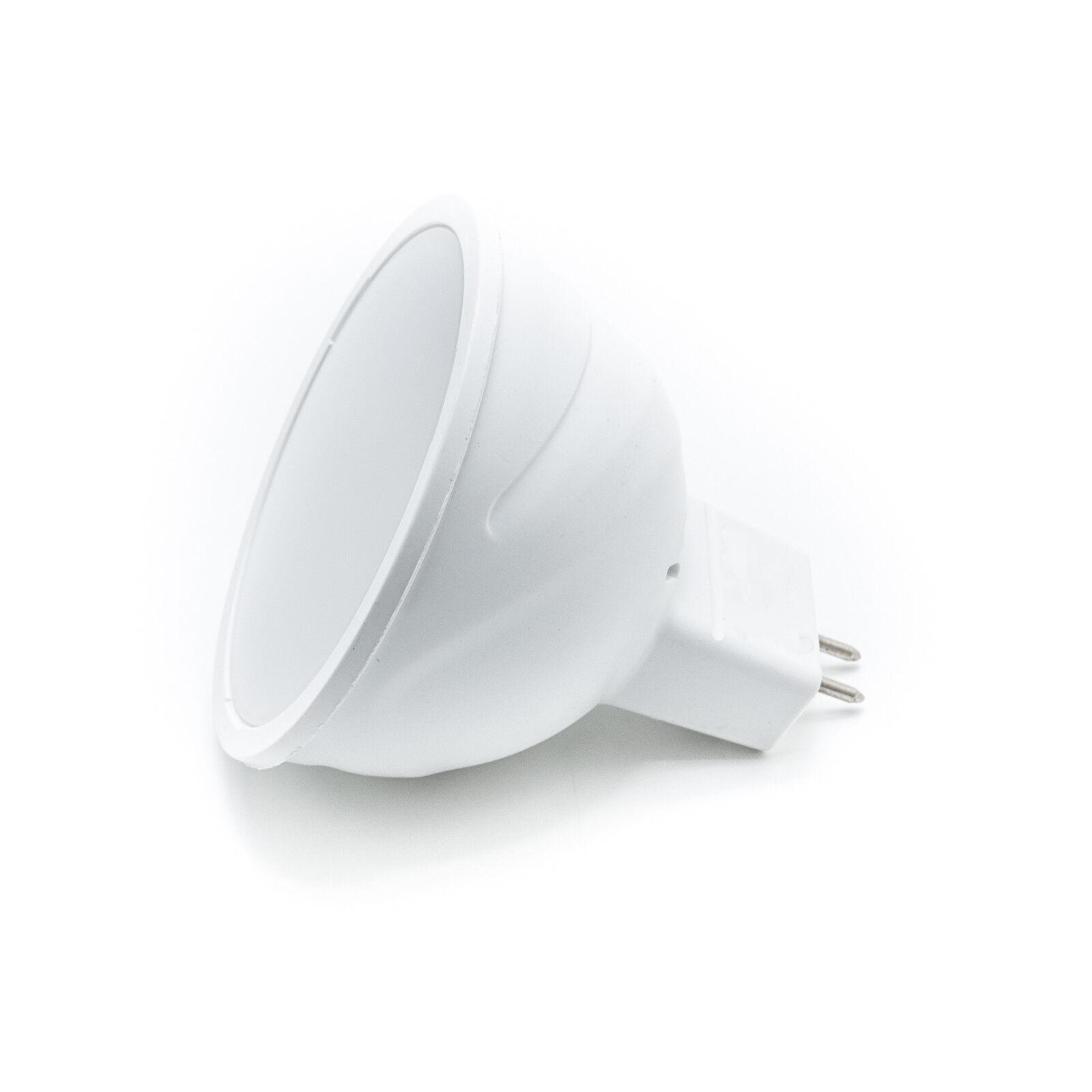 10 x Lampada faretto led gu5.3 mr16 7w 160 gradi 560 lumen luce diffusa 12v 7w