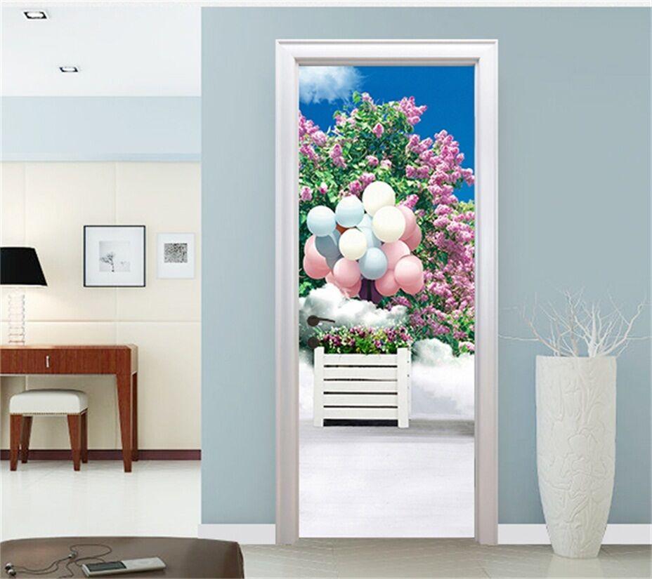 3D 3D 3D Ballon Blaumen Tür Wandmalerei Wandaufkleber Aufkleber AJ WALLPAPER DE Kyra | Sale Düsseldorf  | Preiszugeständnisse  | Kompletter Spezifikationsbereich  06027c
