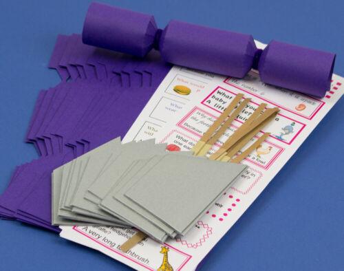 12 Mini Riche Violet Make /& remplir votre propre Cracker Making Craft Kit