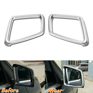 Details About 2pcs Door Side Mirror Rearview Frame Cover Trim For Benz Ml Gl Gls Gle 13 16