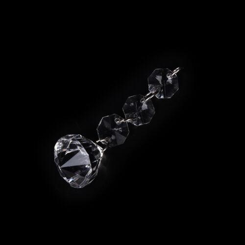 Wedding Acrylic Garland Diamond Crystal Bead Chandelier Hanging Decoration DSUK