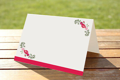 Blank Vintage F.Fantasy Place Name Card Pack White Personalised Ivory Rose