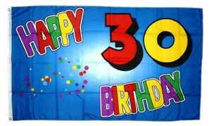 Fahne Flagge 70 Geburtstag Happy Birthday 90 x 150 cm