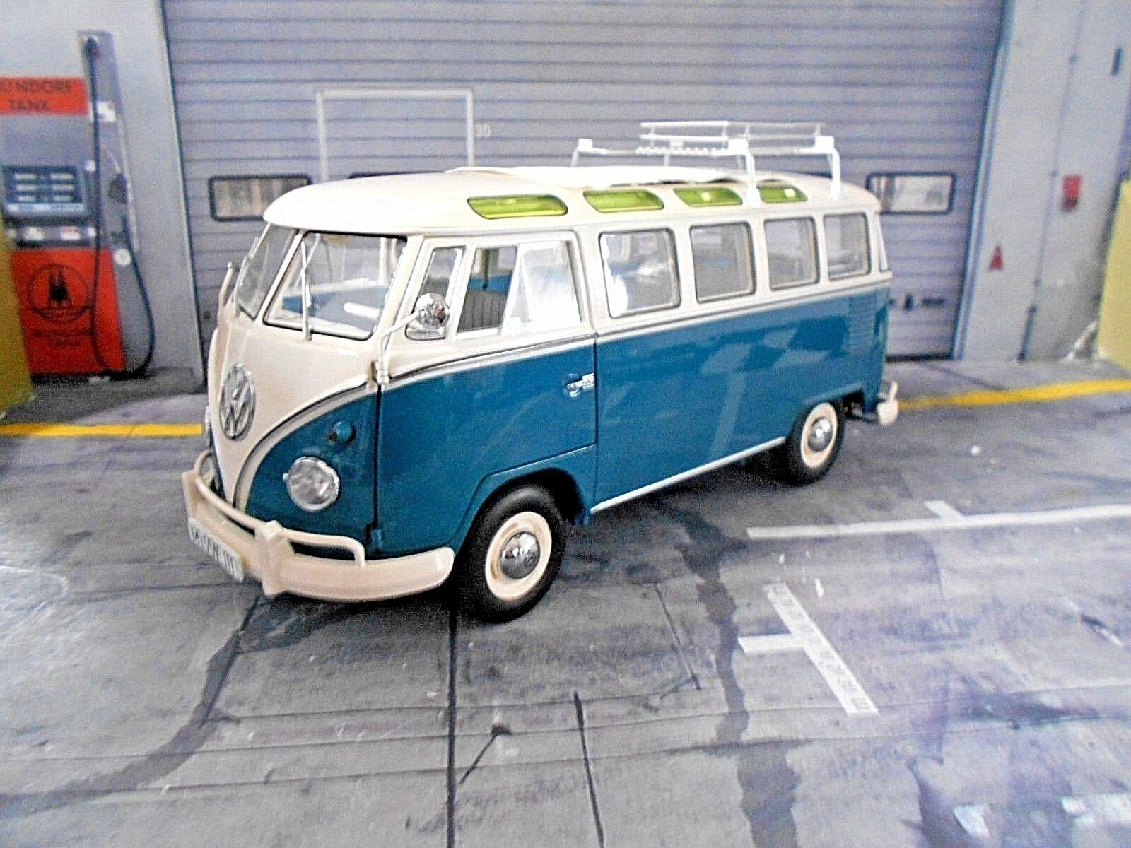 VW VOLKSWAGEN t1b t1 bus bus bus fensterbus Inverno Sport Invernali Blu Schuco Limited 1 18 91a59f
