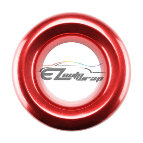 """3.5/"""" Red Aluminum Short Ram Cold Air Intake Velocity Stack Turbo Charger Horn"""
