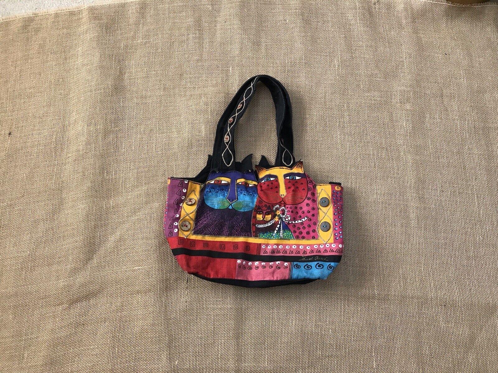 Laurel Burch Feline Cat Hand Bag Shoulder Bag Zip… - image 11