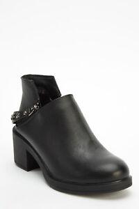 Bottines Chaussures Avec Rivets Zips Biker Bottes Noires Taille Uk 5 Eu 38 (995)-afficher Le Titre D'origine