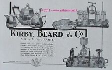 PUBLICITE SERVICE A CAFE CAFETIERE CONA CADEAU KIRBY BEARD &CO DE 1931 FRENCH AD