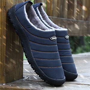 Men-039-s-Shoes-Short-Boots-Fur-Snow-Boots-Winter-Outdoor-Ankle-Shoes-Fashion